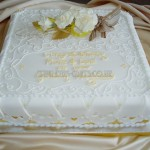 Golden Wedding with sugar Roses