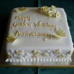 Golden Anniversary sugar Roses & Butterflies