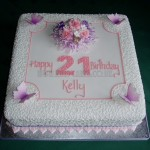 Pretty 21st with Butterflies & Filigree detail