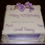 90th Birthday with lilac sugar Roses