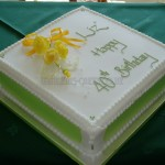 40th green with yellow sugar Roses