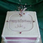 Pretty 40th with Filigree detail