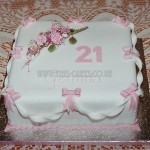 21st sugar Roses, Ribbons & Bows