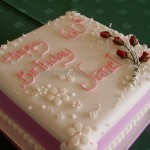 Pink 60th Birthday with silk flowers