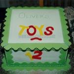 Green & White Toy Box