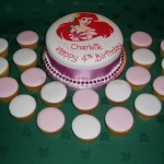 Ariel Mermaid Birthday Cake & Cupcakes