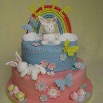 Rainbow & Bunnies Cake 2Tier