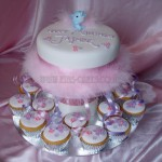 Pink Fluffy Birthday Cake & Cupcakes