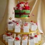 Individual Butterfly & Rose Birthday Cakes