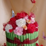 Butterfly & Rose Birthday Cake Top Tier