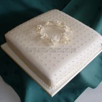 Ivory Rose & Polka Dot single Tier