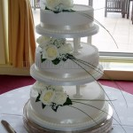Traditional White Fresh Flowers 3Tier