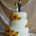 Wedding -Sunflower Wonky Cake 3Tier