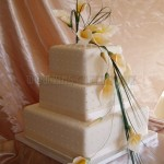 Yellow Cala Lily Polka Dot 3Tier
