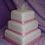 Pink & Silver Feather Polka Dot 3Tier