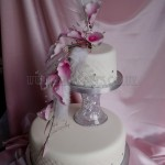 Pink Cala Lily & Sparkle 2Tier