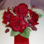 Deep Red Rose Posy