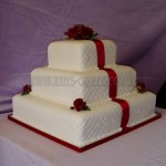 Deep Red Rose 3Tier