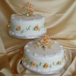 Peach Tudor Rose 2Tier