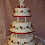 Red Tudor Rose 3Tier