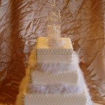 White Fluffy Fairy Tale Castle 3Tier