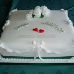 White Rose & Bows Single Tier