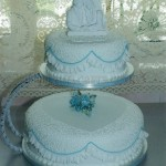 Blue Rose with Frill 2Tier
