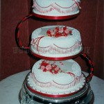 Red Rose & Frill 3Tier
