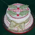 Decorative Holly cake